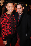 Nicholas Nguyen and Cameron Phillips on the red carpet at Fashion Houston 5 at the Wortham Theater Friday Nov. 21, 2014.(Dave Rossman photo)