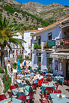 Spanien, Andalusien, Provinz Málaga, Costa del Sol, Mijas: weisses Dorf, Cafe | Spain, Andalusia, Province Málaga, Costa del Sol, Mijas: pueblo blanco, cafe