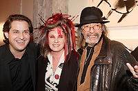 Montreal (Qc) CANADA, Novembre 5, 2007-<br /> Alain Lefebvre (L) and Roger Tabra (R) join<br /> Quebec Diva Diane Dufresne launch EFFUSION ; her latest  CD as well a exhibit of her paintings, at the SAT in MOntreal, Nove,ber 5th 2007.<br /> <br /> photo (c)  Images Distribution
