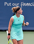 Svetlana Kuznetsova plays Karolina Pliskova (CZE) at the Western & Southern Open being played on August  16, 2019 at Lindner Family Tennis Center in Mason, Ohio.  ©Leslie Billman/Tennisclix