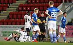 23.12.2020 St Johnstone v Rangers: Michael O'Halloran fouls Borna Barisic and is sent off