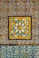 Tunis, Tunisia.  Tiles at Zawiya of Sidi Kacem Al-Jalizi.