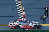 #20: Erik Jones, Joe Gibbs Racing, Toyota Camry Sports Clips celebrates his win