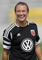 BOYDS, MARYLAND - July 22, 2012:  Marisa Abegg (5) of DC United Women before playing the Charlotte Lady Eagles during the W League Eastern Conference Championship match at Maryland Soccerplex, in Boyds, Maryland on July 22. DC United Women won 3-0.