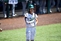 Wright State Raiders left fielder Alex Alders (27) at bat against the Duke Blue Devils in NCAA Regional play on Robert M. Lindsay Field at Lindsey Nelson Stadium on June 5, 2021, in Knoxville, Tennessee. (Danny Parker/Four Seam Images)