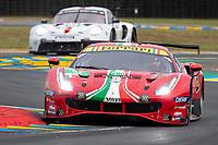 #51 AF Corse Ferrari 488 GTE EVO LMGTE Pro, Alessandro Pier Guidi, James Calado, Come Ledogar, 24 Hours of Le Mans , Qualifying Practice , Circuit des 24 Heures, Le Mans, Pays da Loire, France