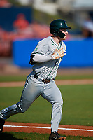 Dartmouth Big Green third baseman Steffen Torgersen (29) runs to first base during a game against the Bradley Braves on March 21, 2019 at Chain of Lakes Stadium in Winter Haven, Florida.  Bradley defeated Dartmouth 6-3.  (Mike Janes/Four Seam Images)