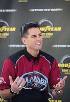 Jul. 23, 2011; Morrison, CO, USA: NHRA top fuel dragster driver Larry Dixon during qualifying for the Mile High Nationals at Bandimere Speedway. Mandatory Credit: Mark J. Rebilas-