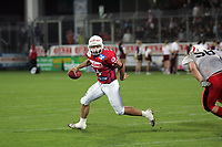 Quarterback Matt Crockett (Braunschweig Lions) unter Druck