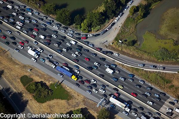 aerial photograph traffic jam interstate 80 Berkeley Emeryville California