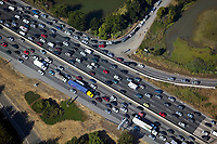 aerial photograph traffic jam interstate 80 Berkeley Emeryville California