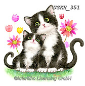 Kayomi, CUTE ANIMALS, LUSTIGE TIERE, ANIMALITOS DIVERTIDOS, paintings+++++,USKH351,#ac#, EVERYDAY ,sticker,stickers,cat,cats