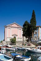 The colourful harbour in Veli Losinj on the island of Losinj in the Kvarner region, Croatia, Adriatic, Europe