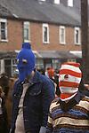 Belfast Ireland 1980s The Troubles. IRA Hoods Probably taken in Etna Drive, Ardoyne north Belfast.