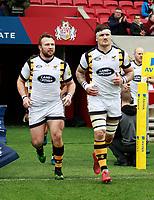 Photo: Richard Lane/Richard Lane Photography. Bristol Rugby v Wasps. Aviva Premiership. 16/04/2017. Wasps' Matt Mullan and Guy Thompson.