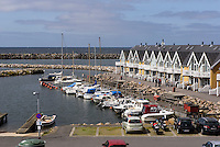 Ferien häuser am Hafen von Hasle auf der Insel Bornholm, Dänemark, Europa<br /> Cottages at port of Hasle, Isle of Bornholm Denmark