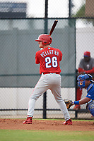 Philadelphia Phillies Ben Pelletier (26) at bat during an Instructional League game against the Toronto Blue Jays on September 30, 2017 at the Carpenter Complex in Clearwater, Florida.  (Mike Janes/Four Seam Images)
