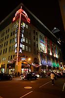 Montreal (Qc) Canada - July 12 2009 - Downtown Montreal at night : Scotia Bank Cinema