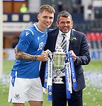 22.05.2021 Scottish Cup Final, St Johnstone v Hibs: Captain Jason Kerr and manager Callum Davidson