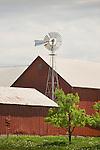 Firestone Road, Huron County, Ohio. Barn with windmill.
