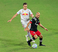 WASHINGTON, DC - SEPTEMBER 12: Frederico Higuaín #2 of D.C. United dribbles during a game between New York Red Bulls and D.C. United at Audi Field on September 12, 2020 in Washington, DC.