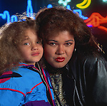 Angela Bofill and her daughter : Portrait of Angela Bofill, Blue Note Tokyo, Japan