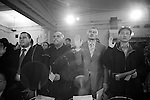 Friday, April 20,  2007, New York, New York.. 100 people were sworn in as US citizens today at the New York Historical Society located at 170 Central Park West.. Jason Rudman, 2nd from right, from the UK and Jose Santos, 3rd from right, from the Dominican Republic, raise their hands for the swearing in ceremony.