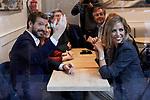 Pablo Casado and his wife Isaber Torres during the Partido Popular leader Pablo Casado voting in Madrid at Nuestra Senora del Pilar school in Madrid, Spain. November 10, 2019. November 10, 2019. (ALTERPHOTOS/A. Perez Meca)