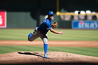 Kansas City Royals relief pitcher Andres Sotillet (33) follows through on his delivery during an Instructional League game against the Arizona Diamondbacks at Chase Field on October 14, 2017 in Scottsdale, Arizona. (Zachary Lucy/Four Seam Images)