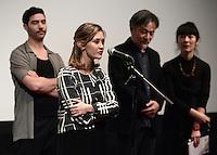 Tahar RAHIM - Constance ROUSSEAU - Kiyoshi KUROSAWA - Avant-premiere du film ' Le Secret de la Chambre Noire ' de Kiyoshi Kurosawa - La Cinematheque francaise 6 fevrier 2017 - Paris - France