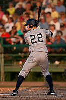 April 23 2010: Addison Maruszak (22) of the Tampa Yankees during a game vs. the Daytona Beach Cubs at Jackie Robinson Ballpark in Daytona Beach, Florida. Tampa, the Florida State League High-A affiliate of the New York Yankees, won the game against Daytona, affiliate of the Chicago Cubs, by the score of 11-3  Photo By Scott Jontes/Four Seam Images