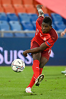 6th August 2020, Basel, Switzerland. UEFA National League football, Switzerland versus Germany;  Breel Embolo, SUI gets his shot on goal