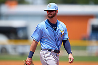Tampa Bay Rays Evan Edwards (18) during a Minor League Spring Training game against the Atlanta Braves on April 25, 2021 at Charlotte Sports Park in Port Charlotte, Fla.  (Mike Janes/Four Seam Images)