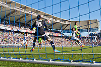 Carson, Calif. - Sunday, April 12, 2015: The LA Galaxy beat Seattle Sounders FC 1-0 in a Major League Soccer (MLS) game at StubHub Center.