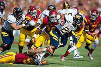 LOS ANGELES, CA - September 22, 2012:  Cal Bears running back Isi Sofele (20) during the USC Trojans vs the Cal Bears at the Los Angeles Memorial Coliseum in Los Angeles, CA. Final score USC 27, Cal 9.