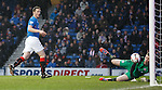 Jon Daly hits the post in the first half