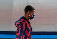 NASHVILLE, TN - SEPTEMBER 5: Tyler Adams #4 of the United States walks into the stadium during a game between Canada and USMNT at Nissan Stadium on September 5, 2021 in Nashville, Tennessee.