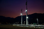 SHA TIN,HONG KONG-DECEMBER 08 : Inside track before sunrise at Sha Tin Racecourse on December 8,2017 in Sha Tin,New Territories,Hong Kong (Photo by Kaz Ishida/Eclipse Sportswire/Getty Images)