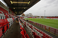 General view of the ground ahead of kick-off during Stevenage vs Morecambe, Sky Bet League 2 Football at the Lamex Stadium, Stevenage, England on 28/11/2015