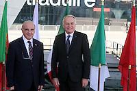 28 oct 2016, Marseille, France - Jean-Marc Ayrault, Ministre des Affaires EtrangËres et co-prÈsident de la 13Ëme rÈunion des Ministres des Affaires EtrangËres du 'Dialogue 5+5 sur la MÈditerranÈe occidentale'. George Vella, Ministre des Affaires EtrangËres de Malte. # JEAN-MARC AYRAULT RECOIT A MARSEILLE LES MINISTRES DES AFFAIRES ETRANGERES DES PAYS MEDITERRANEENS