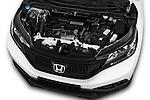 Car Stock 2014 Honda CR-V Lifestyle 5 Door Suv Engine  high angle detail view