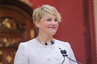 Isabelle Melancon is sworn in as Ministre du Developpement durable, de líEnvironnement et de la Lutte contre les changements climatiques (Minister of Environment) of the new Liberal cabinet at the National Assembly in Quebec city October 11, 2017.<br /> <br /> PHOTO :  Francis Vachon - Agence Quebec Presse