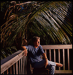 Carl Hiaasen author, columnist and screen writer at home in the Florida Keys.