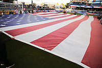 SAN JOSE, CA - JUNE 26: National anthem during a Major League Soccer (MLS) match between the San Jose Earthquakes and the Houston Dynamo on June 26, 2019 at Avaya Stadium in San Jose, California.