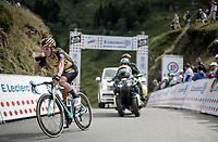 sprinter Dylan Groenewegen (NED/Jumbo-Visma) over the Horquette d'Ancizan<br /> <br /> Stage 12: Toulouse to Bagnères-de-Bigorre(209km)<br /> 106th Tour de France 2019 (2.UWT)<br /> <br /> ©kramon
