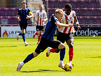 17th July 2021; Tynecastle Park, Edinburgh, Scotland;Pre Season Friendly Football, Heart of Midlothian versus Sunderland; Gary Mackay-Steven of Hearts and  Tyrese Dyche of Sunderland FC compete for possession of the ball