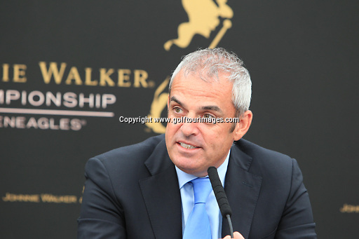 European Ryder Cup Captain, Paul McGinley announces The McGinley Foundation as the fourth and final charity of The 2014 Ryder Cup. The announcement was made ahead of the 2013 Johnnie Walker Championship being played over the PGA Centenary Course, Gleneagles, Perthshire from 22nd to 25th August 2013: Picture Stuart Adams www.golftourimages.com: 20th August 2013