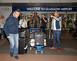 Pedro Caixinha bids farewell to Dalcio as they arrive in Glasgow this morning