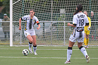 Noemie Fourdin (22) of Sporting Charleroi pictured during a female soccer game between Sporting Charleroi and Eendracht Aalst on the 8th matchday in play off 2 of the 2020 - 2021 season of Belgian Scooore Womens Super League , tuesday 18 th of May 2021 in Marcinelle , Belgium . PHOTO SPORTPIX.BE | SPP | STIJN AUDOOREN