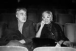 LINA WERMULLER CON IL MARITO ENRICO JOB<br /> TEATRO QUIRINO ROMA 1980